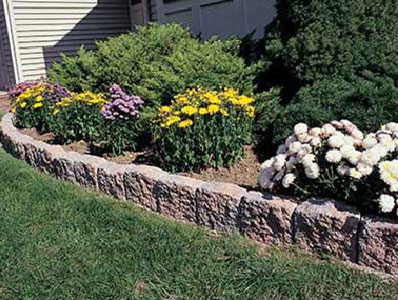 Borders edging norristown brick for Decorative stone garden border